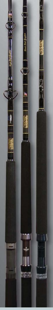 Seeker black steel rods for Seeker fishing rods
